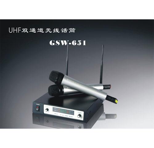 UHF双通道无线话筒
